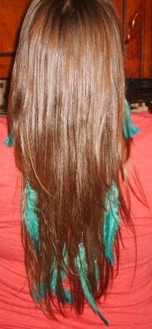 Teal Feather Extensions!!