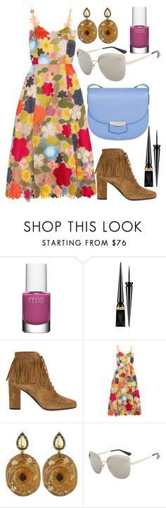 """""""Autumn Colors"""" by shopunder ❤ liked on Polyvore featuring rms beauty, Christian Louboutin, Yves Saint Laurent, Rosie Assoulin, Silvia Furmanovich, Prada and CÉLINE"""