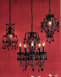 Black Chandeliers for hallway or music room