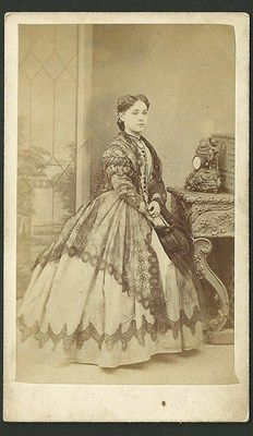 Victorian CDV Lady Standing Carte de Visite by Josiah Smith of Islington | eBay ~ ohhhh, that shawl!