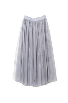 Size + Fit:- This item is Final Sale- High waist, wide rubber waistband - Multi layered- US Size: EUR Size: Length: / Model is wearing size small- Measurements taken from size smallContent + Care:- Polyester- Fully lined- Machine wash cold- Imported Grey Tulle Skirt, White Tulle, Tulle Skirts, Midi Skirts, Dress Skirt, Dress Up, Waist Skirt, Calf Length Skirts, Dress To Impress