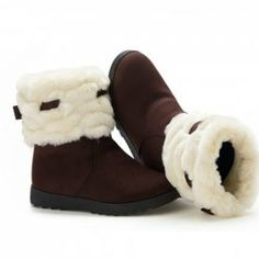 $20.48 Casual Women's Snow Boots With Bow and Faux Fur Design