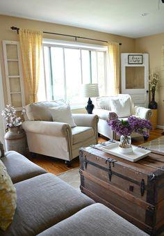 New Farmhouse Living Room Curtains