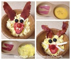 Funny Bunny Breakfasts!! Come check out this fun idea and more great recipes at www.facebook.com/.RichardsonChefs. Get your Microwave Egg Cooker at www.pamperedchef.biz/Richardson Pampered Chef Egg Cooker, Pampered Chef Recipes, My Favorite Food, Favorite Recipes, Advocare 24 Day Challenge, Microwave Eggs, Recipe Using, Kids Meals, Great Recipes