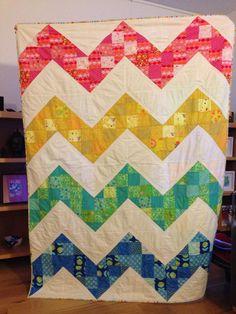 M's Christmas quilt - Jeni Baker's patchwork chevron tutorial