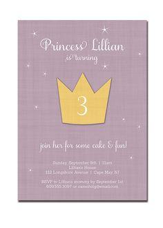 Princess Birthday Invitation Crown Princess by digibuddhaPaperie, $20.00