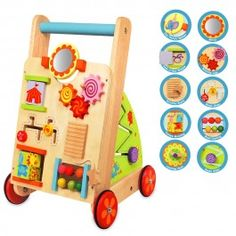NEW First Activity Walker - Sustainable Eco-Friendly Wooden Kids Toys Christmas Gift Guide, Christmas Gifts For Kids, Baby Toys, Kids Toys, Learning Clock, Push Toys, Wooden Wheel, Wood Toys, Educational Toys