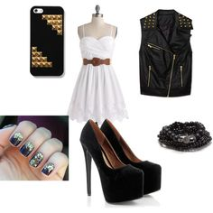 """black and white"" by susana-perez-739 on Polyvore"