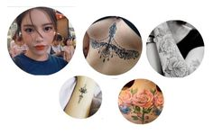 """""""- Jihyun's Tattoos"""" by kwon-twxxs ❤ liked on Polyvore featuring art"""