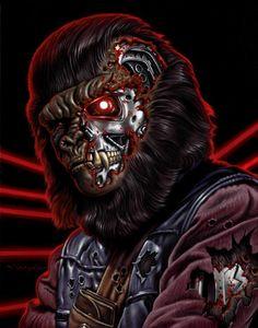 Planet of the Terminator Apes by Jason Edmiston