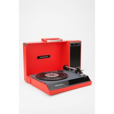 Crosley Spintronic Portable USB Turntable (235 AUD) ❤ liked on Polyvore featuring accessories and red