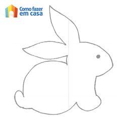 Molde de coelhinho da Páscoa Easter Templates, Bunny Templates, Applique Templates, Applique Patterns, Quilt Patterns, Easter Projects, Easter Crafts For Kids, Felt Crafts, Paper Crafts