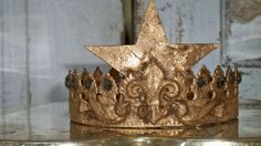 French metal crown handmade distressed gold by AnitaSperoDesign, $170.00