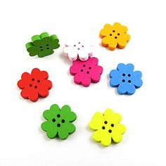 570 Pieces Sewing Clothing Buttons Sew On Wooden Wood Knopfe BB2335 Mixed Flowers 4 Holes Colorful Plush Lovely Accessory Decoration Handmade Cute Scrapbook Flatback DIY >>> Read more at the image link.