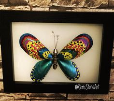 Kelebek - #stoneart #stonepainting #tasboyama #tassanati #rockpainting #instagood #photooftheday #handmade #elsanatlari #türkiye #turkey #butterfly #kelebek #color