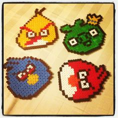 Angry Birds perler beads by blondynkacc