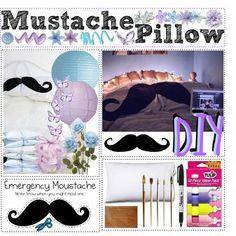 DIY Mustache Pillow - Polyvore