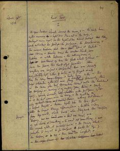 Virginia Woolf. Manuscript To the Lighthouse, part II