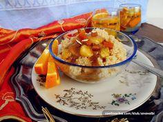 Ja cous cous obožavam i koristim ga godinama i u slanim i u slatkim kombinacijama pa sam odmah znala da će me osvojiti i u Marokanskoj kuhinji,ma osvojio je mene i Marocco i sigurno ću i dalje nastaviti istraživati njihovu kuhinju... SEFFA je tradicionalno Marokansko jelo koje se priprema od cous cousa u slatkoj kombinaciji,najčešće se priprema za Hanuku,ali i svakodnevno se može poslužiti kao zdrav i hranjiv doručak ili kao desert nakon ručka.Kombinacije su različite(naišla sam na bezbroj…