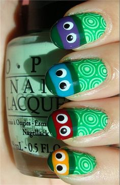 TMNT nails...awesome!