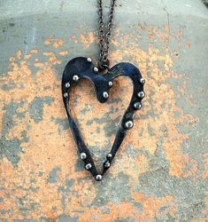 Open Heart mixed metal pendant necklace from the Alchemic Collection by Laura Beth Love