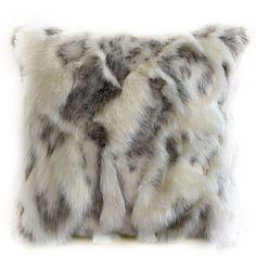 Fur Pillow, Pillow Fabric, Grey Pillows, Throw Pillows, Luxury Throws, Rabbit Fur, Decorative Pillows, Faux Fur, Ivory