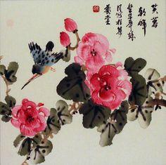 Japanese flower painting