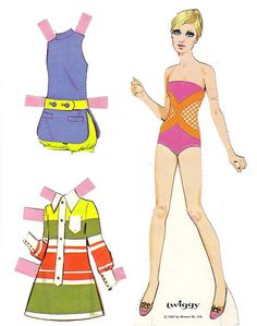 twiggy paper doll 1967