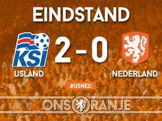 Oranje verliest het EK-kwalificatie duel tegen  IJsland met 2-0.