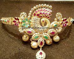 Jewellery Designs: CZ Emerald Ruby Peacock Armband