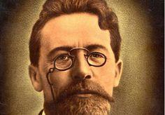 Anton Chekov in an interesting pair of 19th Century pince-nez frames.