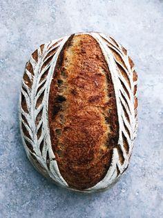 An everyday sourdough loaf - bread Sourdough Recipes, Loaf Recipes, Sourdough Bread, Bread Art, Bread Head, Beer Bread, Brunch, Easy Bread, Fresh Bread