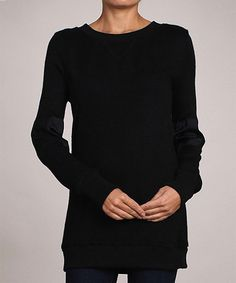 Look what I found on #zulily! AudreyAnn Black Crewneck Sweater by AudreyAnn #zulilyfinds