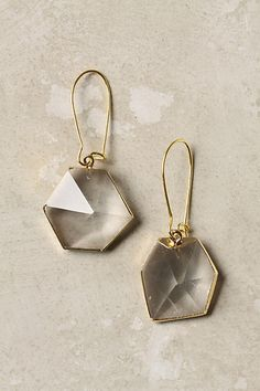 Pointed Hexagon Earrings