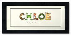Personalized name art for children by melsapp on Etsy, $120.00