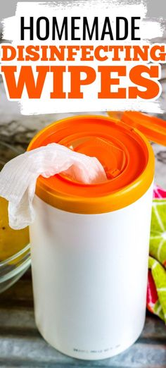 Whether you're trying to save money on disinfecting wipes or you just can't find them in the stores, you can easily make your own DIY disinfecting wipes with this easy homemade recipe using paper towels, bleach, and other ingredients you likely have on hand already. Easy Homemade Recipes, How To Make Homemade, Homemade Disinfecting Wipes, Plastic Containers With Lids, Paper Towels, Tea Tree Oil, Spring Cleaning, Recipe Using, Make Your Own