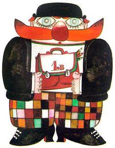 I like the quirkiness of the designs by Kveta Pacovska. She illustrated children's books. Illustration Example, Book Illustration, Tapas, Magic Carpet, Russian Art, Children's Literature, Childrens Books, Illustrators, Graffiti