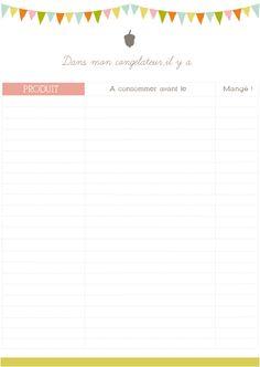 Inventaire congélateur, à télécharger sur Cassegraine.fr