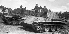 Panther #521 and Tiger #132 after capture
