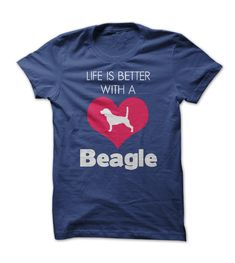Life is Better with a Beagle T Shirt - other colors are available - clothes for women and men