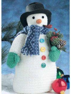free pattern snowman crochet
