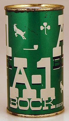 A-1 Bock Beer Can #vintagepackaging #packaging