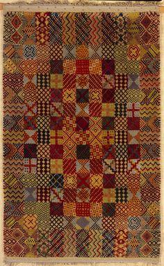 Benita Koch-Otte, Knüpfteppich, Smyrna, Wolle, um 1929 (Privatbesitz); Foto: Historische Sammlung Bethel  Benita Koch-Otte est née le 23 mai 1892 à Stuttgart. Jusqu'à 1925 , elle fut d'abord un étudiant au Bauhaus, puis un employé de l' atelier de tissage . En collaboration avec Gunta Stölzl , Benita Koch-Otte a été parmi les élèves les plus doués femmes de l'atelier de tissage au Bauhaus
