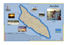 This Passport Map was a Christmas gift from a thoughtful wife to her husband showing their romantic Aruba Vacation. Have you ever been to this One Happy Island? Travel Tours, Travel Maps, Oranjestad, Anniversary Present, Custom Map, Travel Memories, Catamaran, Tour Guide, Passport