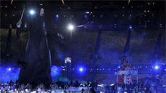 A model of Lord Voldemort appearsduring the Opening Ceremony of the London 2012 Olympic Games at the Olympic Stadium on 27 July2012.