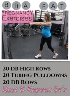 The Bra Fat & Back Fat don't help us look any better during Pregnancy. This super safe pregnancy workout is effective to help the back and bra fat and can be done in any trimester and can be done from home. Great pregnancy tips, nutrition and exercises in this blog  http://michellemariefit.publishpath.com/bra-back-flab-pregnancy-exercises