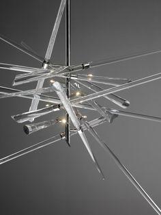 "Blown #glass Chandelier ""AND WHY NOT!"" by Lasvit | #design René Roubícek @Lasvit"