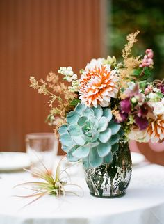 succulent flower arrangement