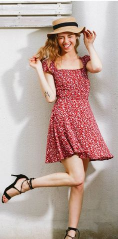 Backless navy floral print short dress