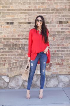 Top: Free People | Bottoms: Current Elliott | Bag: Saint Laurent (also here)…